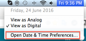 Open Date&time Preferences