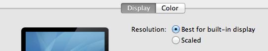 Default Resolution