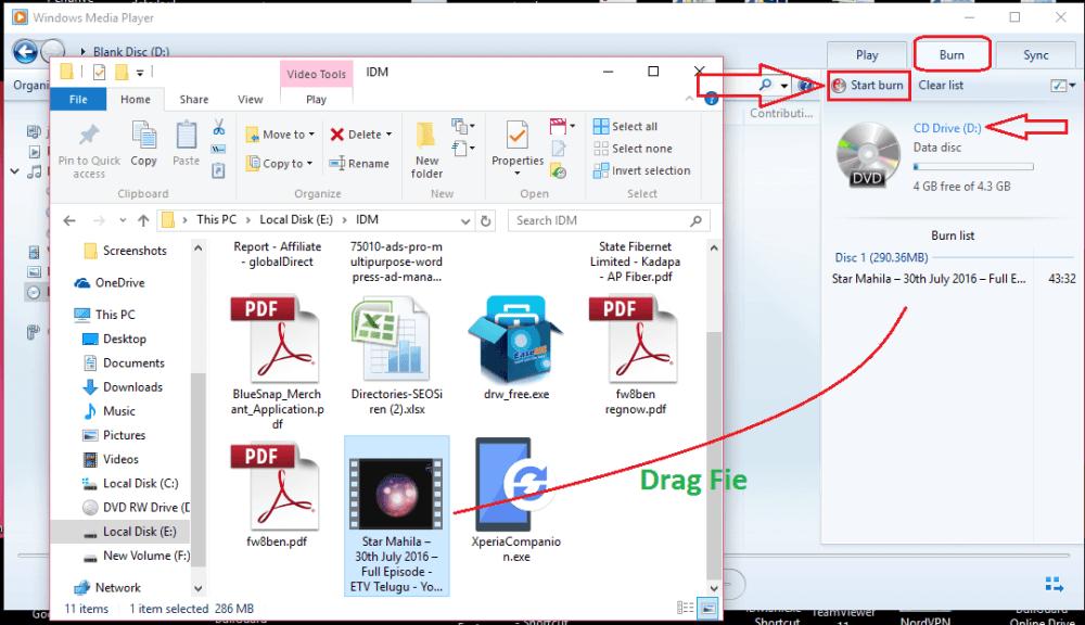 Burn DVD on Windows 10