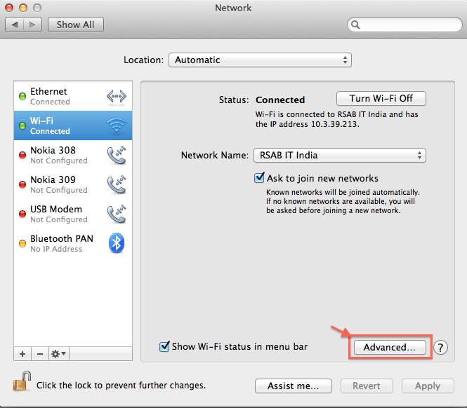 Find mac address on Mac