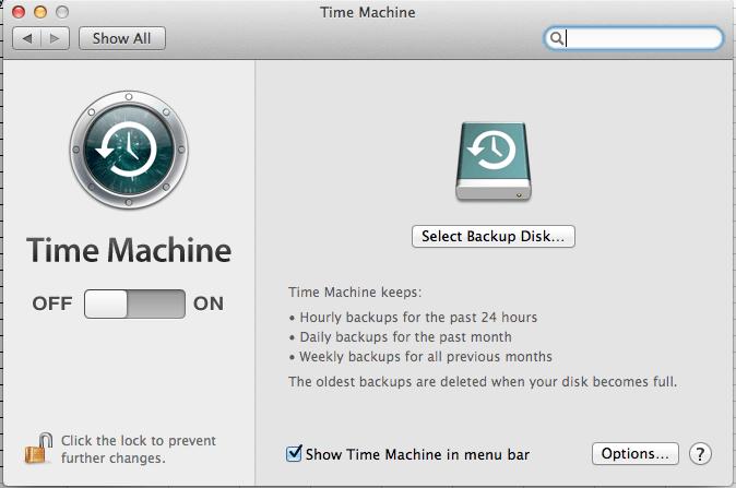 Backup Mac to external hard drive