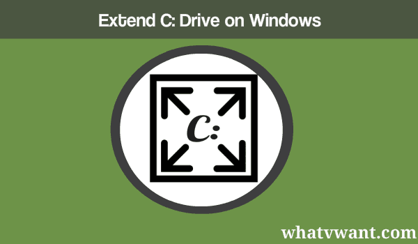 Extend c drive on windows