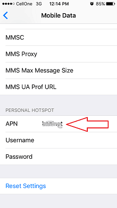 Personal hotspot disappeared on iPhone
