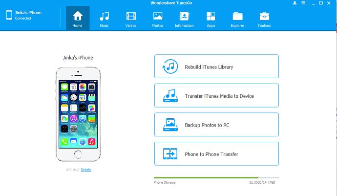 Wondershare tunergo iPhone