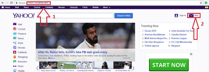 Create a new Yahoo mail account