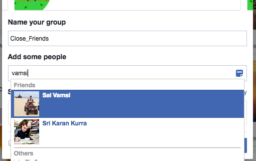 FB Enter GroupName
