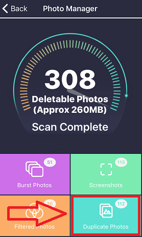 Delete duplicate photos on iPhone