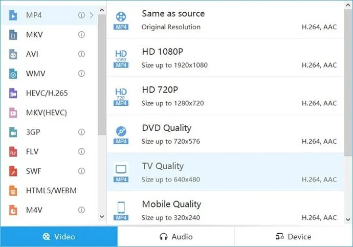 acethinker video master supported formats