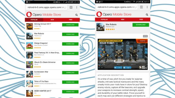 Opera App Store - Google Play Store Alternative ?