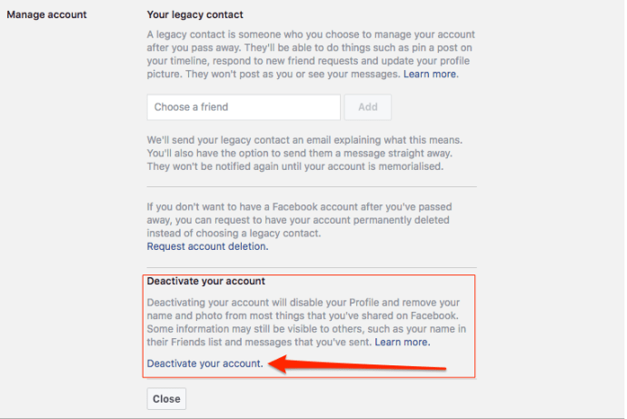 2 Ways to Delete Facebook Account Permanently 4