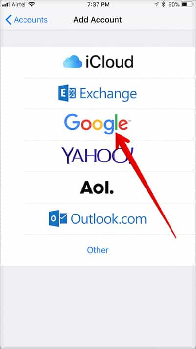 import google contacts google