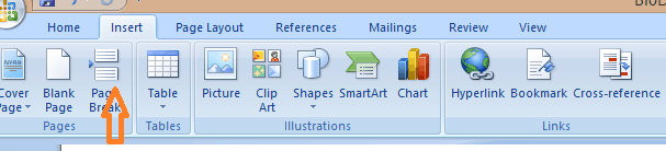 How to Add Page Break in MS Word 4
