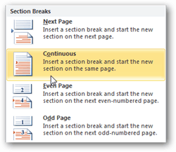 How to Add Page Break in MS Word 8