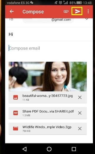 mobiles in gmail