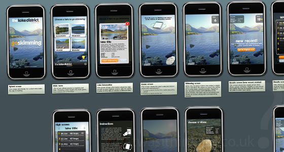 Storyboard of the Go Skimming iPhone app