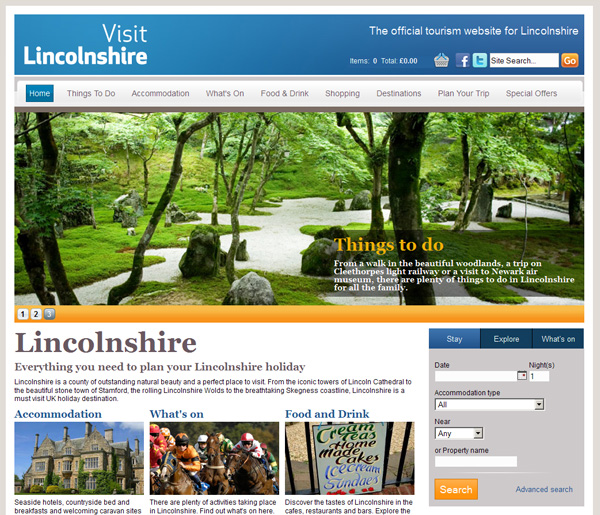 visit Lincolnshire screenshot