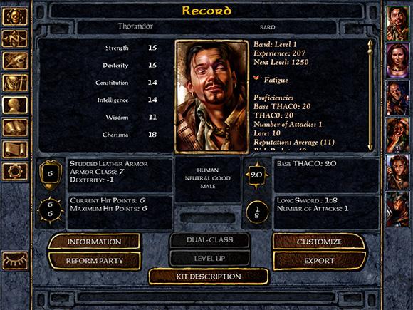 BG:EE screenshot 2