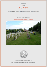 CWGC Certificate for Henry Williamson Connor
