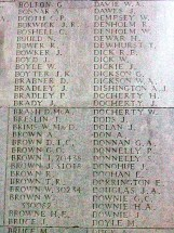 James Bowker on the Thiepval Memorial