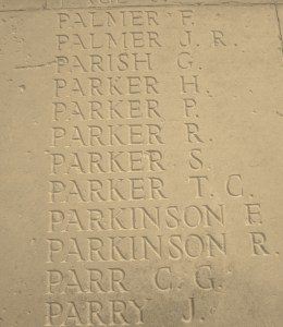 Memorial Panel for Christopher George Parr