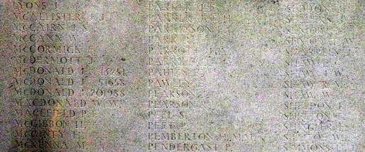 Memorial Panel for Harry Senior