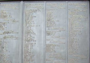 Cropped Panel 37 - Tower Hill Memorial - Walter Trever Lee