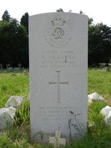 Headstone for Norman J E Dawks