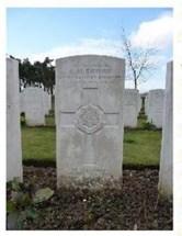 Headstone of James Harold Brumby 1887-1917