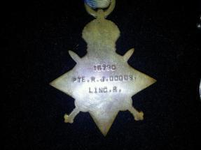 Medal for Reginald John Dodds