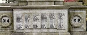 Panel on Denton War Memorial - William Broome