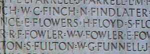 William Gilbert Funnell on Vimy Memorial