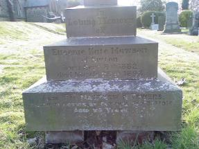 Headstone for Eugenie Kate Mawson and Matthew H Towers