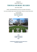 CWGC Certificate for Thomas Hubert Hughes