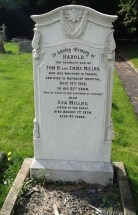 Headstone for Harold and Eva Millns