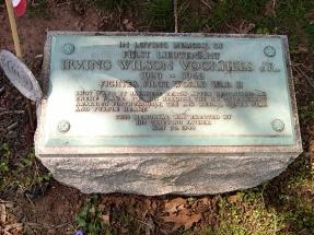 Memorial for Irving Wilson Voorhees Jr