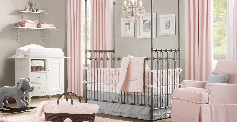 baby-girl-room-ideas-pink-and-grey