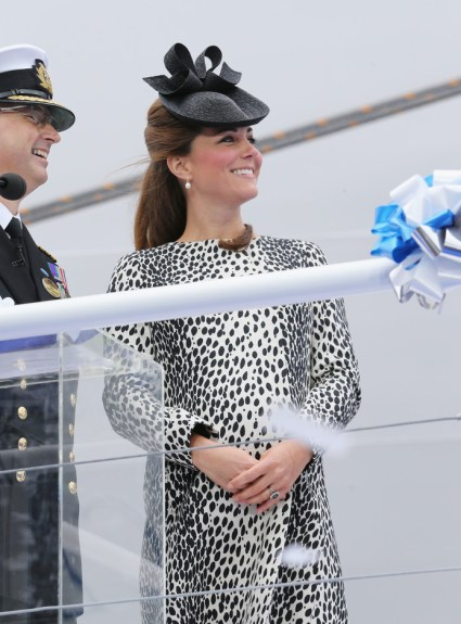 Bold and Beautiful Kate Shines at Ship's Christening