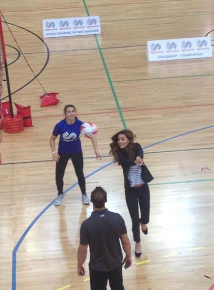 Kate Attends SportsAid Athlete Workshop