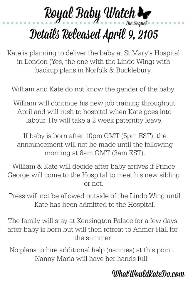 Royal Baby 2 Details