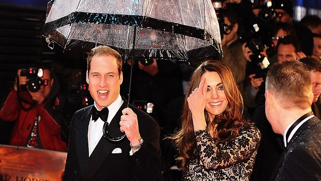 Kate William War Horse Premiere Birdcage Umbrella