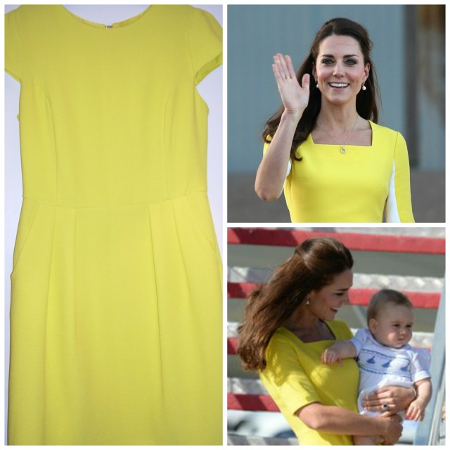 Yellow Miss Selfridge Crepe Tulip Dress