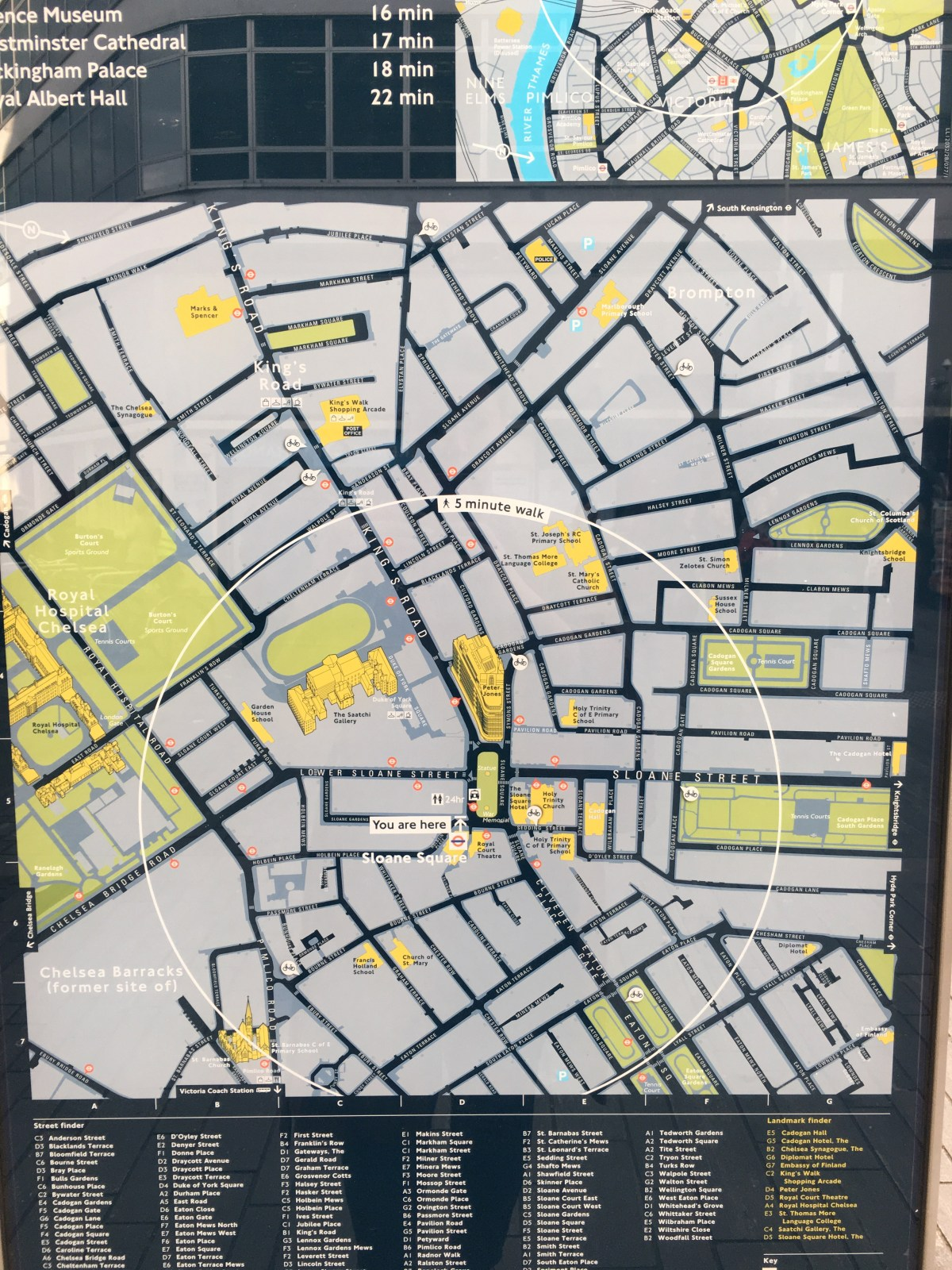 Sloane Square Map small