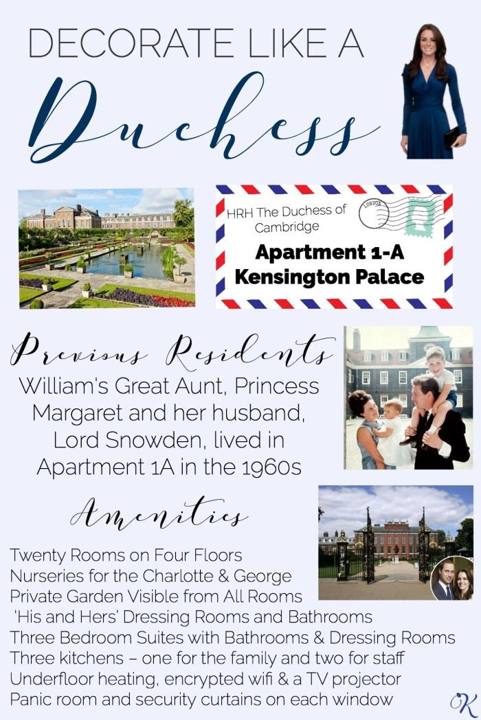 Decorate Like a Duchess Details About Kensington Palace