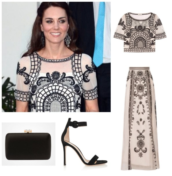 Duchess of Cambridge Alice Temperley Gianvito Rossi Prada Royal Tour India Day 2