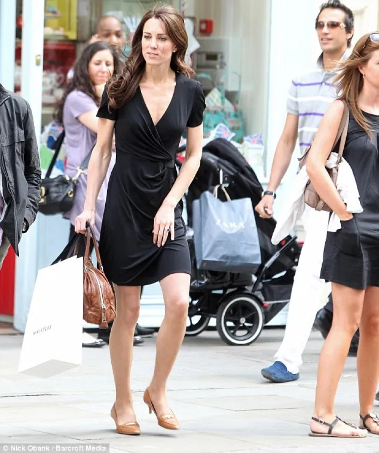 kate middleton black wrap dress