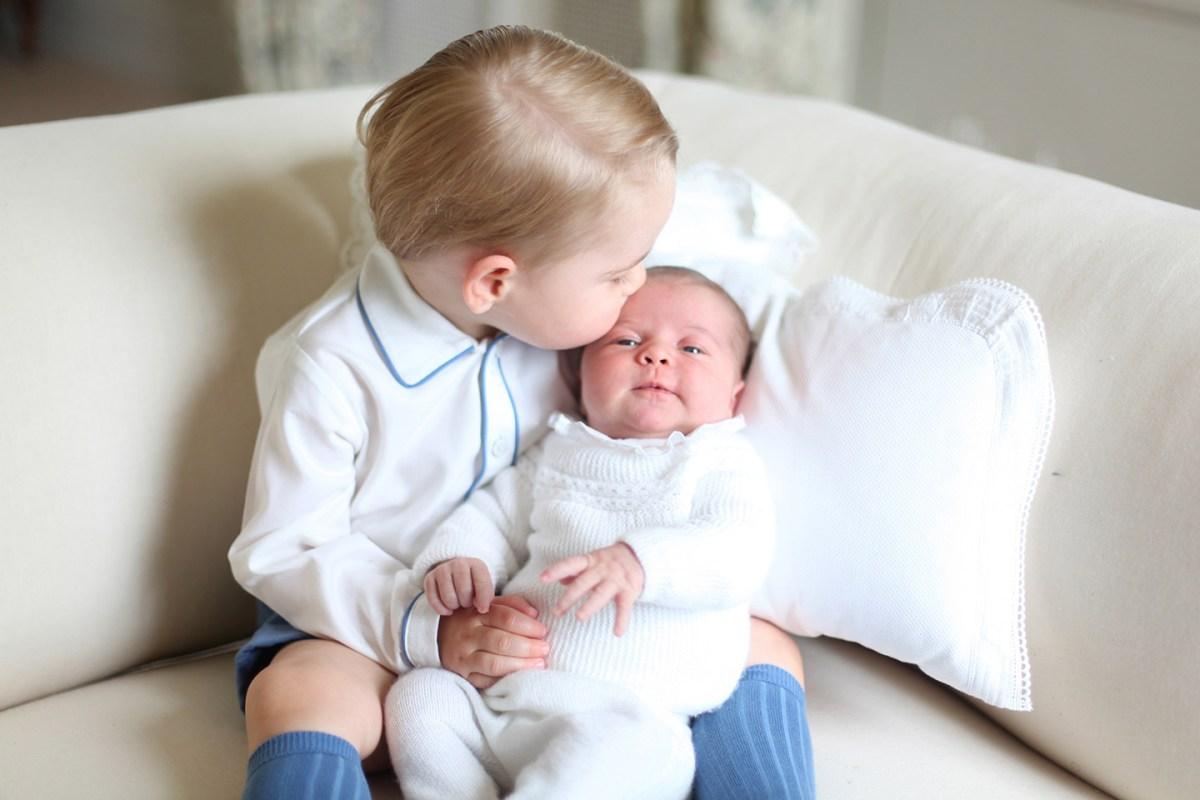 Prince George Princess Charlotte Newborn Kiss