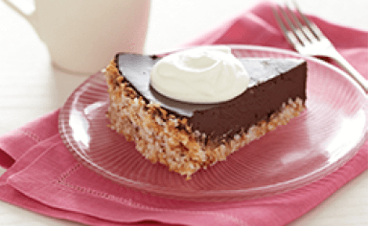 Wheat-Free Chocolate Coconut Tart Recipe