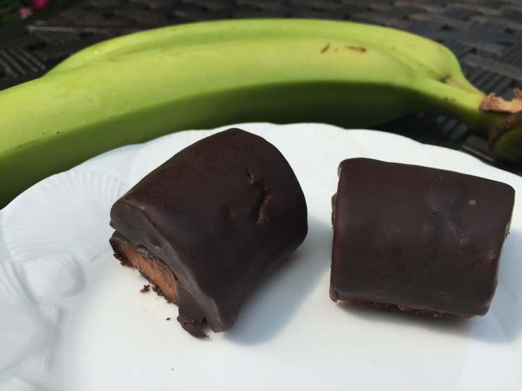 Chocolate Green Banana Bites