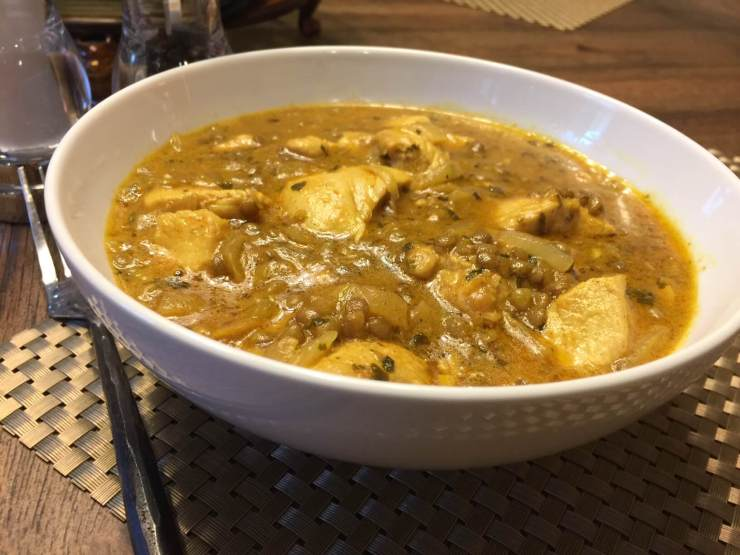 Curry Chicken With Lentils