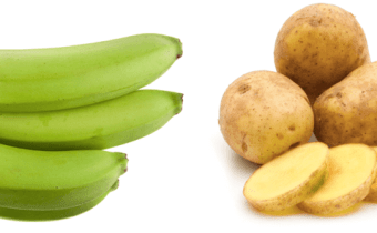 What do green bananas and raw white potatoes have in common?